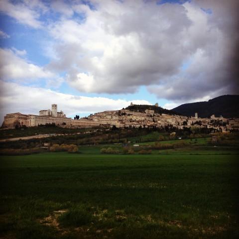 A cidade de Assis, na Umbria