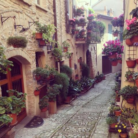 Ruazinha fofa em Spello, na Umbria