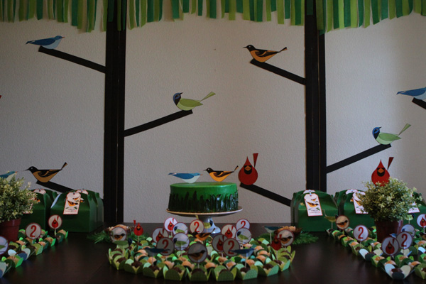 Festa de aniversário de 2 anos do Eric: chamando todos os passarinhos
