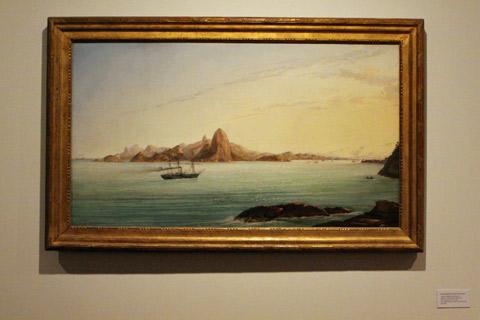 Queria uma máquina do tempo para ver o Rio assim - não dá pra ver o nome do pintor na foto e não consegui encontrar online