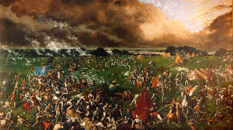 """The Battle of San Jacinto (1895)"" by Henry Arthur McArdle Licensed under Public Domain via Wikimedia Commons."