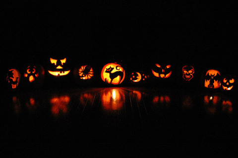 Nossas abóboras de Halloween de 2007