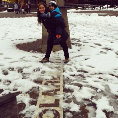 Alessandra e Gabs no Ártico