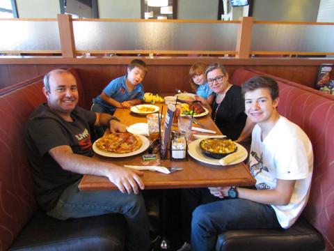 Almoçando em Dallas