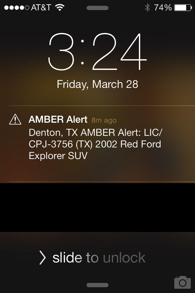 Amber Alert – uma criança está desaparecida