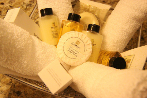 Amenities do banheiro no Le Square Phillips