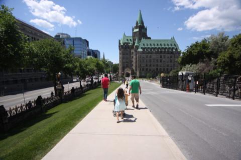Fomos andando por Parliament Hill
