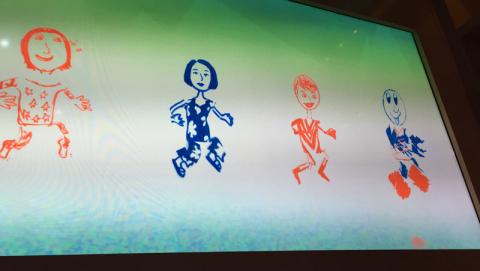 Nossos desenhos andando no show Animation Magic, no Disney Fantasy