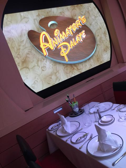 Animator's Palate, o jantar com showzinho no Disney Dream. Foto: Lu Misura