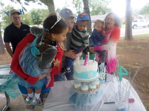 Aniversário da minha filha no Cline Park