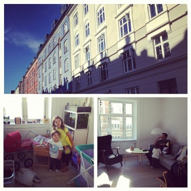 O apartamento em Copenhagen