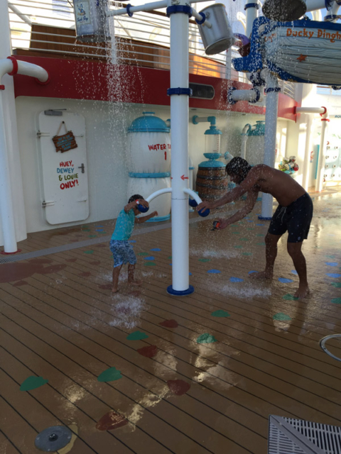Eric e o tio no Aqualab