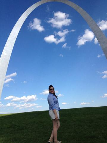 O Gateway Arch em Saint Louis