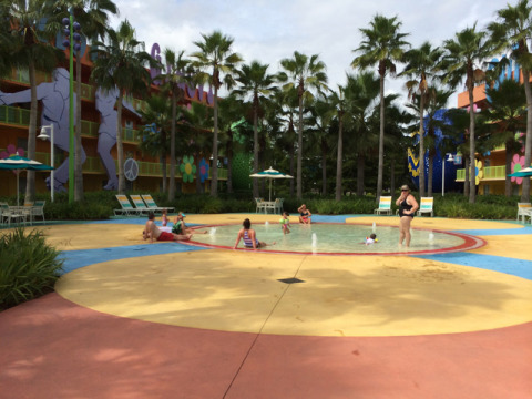 Área molhada perto da Hippy Dippy Pool