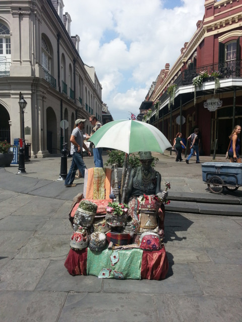 Arte na rua, no French Quarter