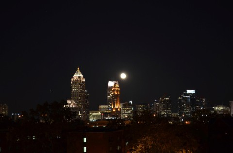 Downtown Atlanta a noite