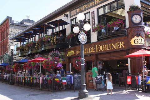 O pub irlandês onde nós almoçamos