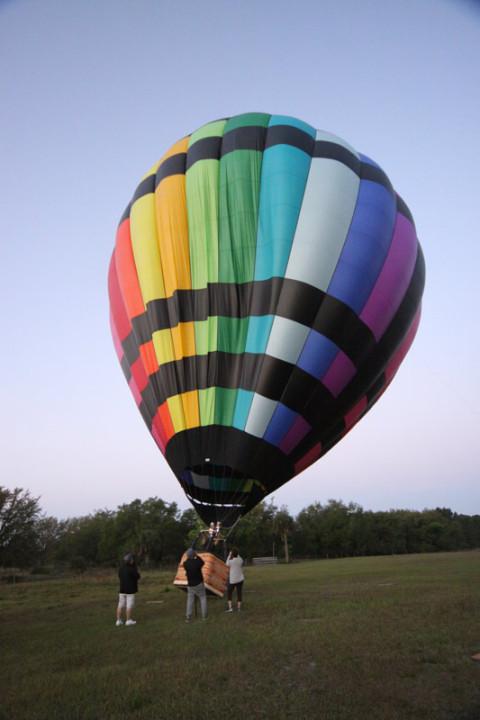 Balão ficando na posição vertical