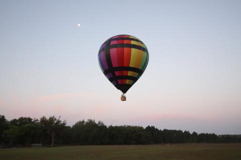 Agora sim, o primeiro balão levantando vôo!