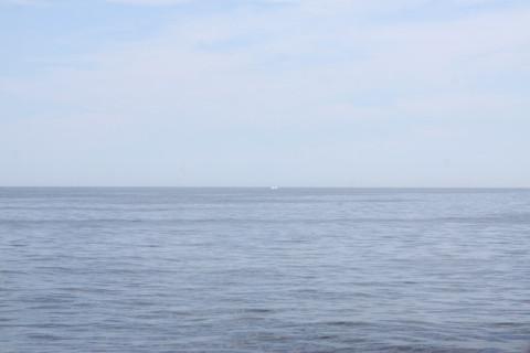 Primeiro vimos a água espirrando ao longe