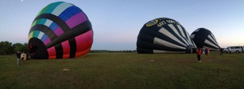 Os 3 balões da Orlando Balloon Rides