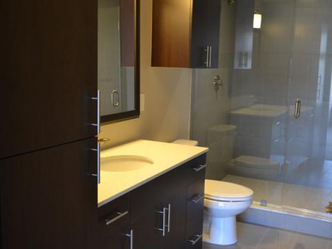 Banheiro do apartamento modelo