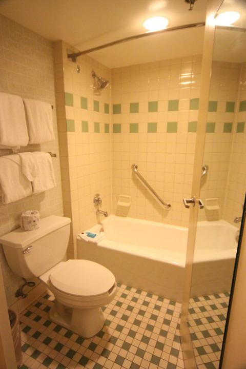A parte do banheiro que tem porta, o combo de banheira + chuveiro padrão por aqui
