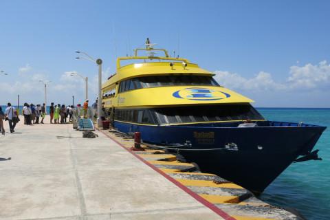 O ferry para Cozumel