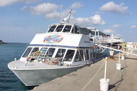 O barco que nos levou do Disney Magic até Grand Cayman