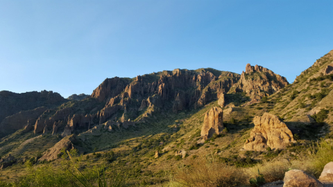 Chisos Mountains com a luz do final do dia