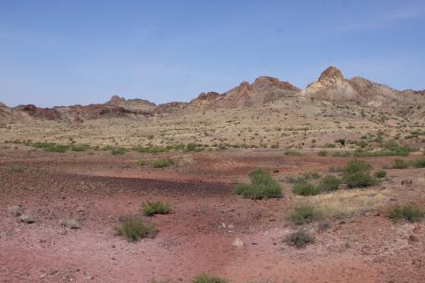 Tons de vermelho na paisagem do Big Bend