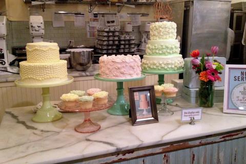 Bolos e cupcakes na Magnolia Bakery em Nova York
