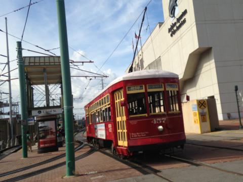 Um dos bondinhos de New Orleans