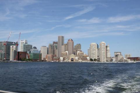 Boston em dia de cartão postal