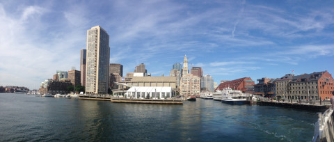 Saindo do Boston Harbor