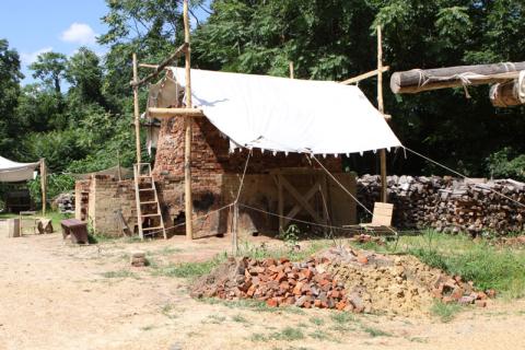 Produção de tijolos