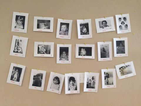 No final eu escrevi os nomes dos bebês nas fotos pra todo mundo saber quem é quem