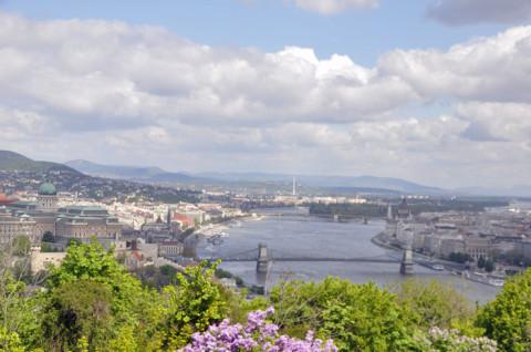 Bela vista de Budapeste da Citadella
