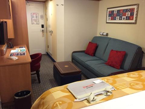Outro ângulo da nossa cabine interna no Disney Fantasy