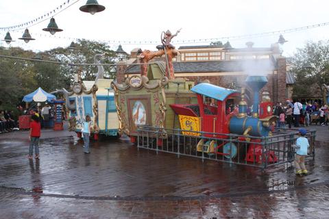 Casey Jr Splash and Soak Station - como não estava calor, não tinha muita gente por ali