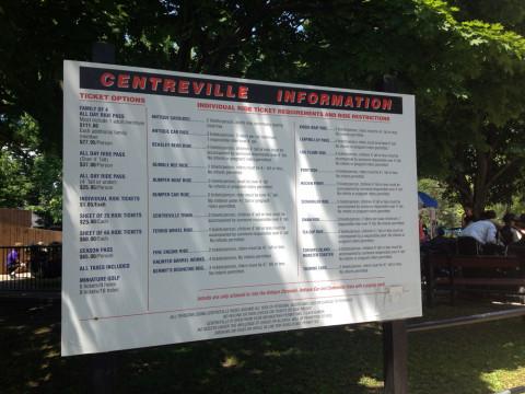 Preços e atrações do Centreville: salgadinho