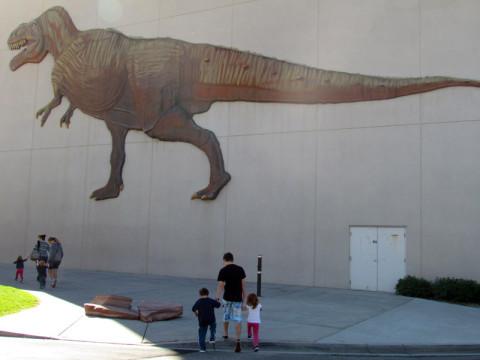Chegando ao museu dos dinossauros