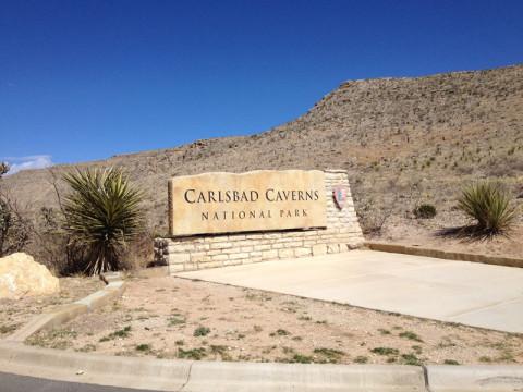 Chegando ao Carlsbad Caverns National Park