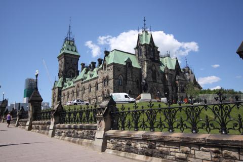 Chegando ao Parlamento Canadense