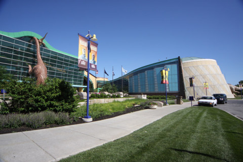 Chegando no Children's Museum de Indianápolis, em Indiana