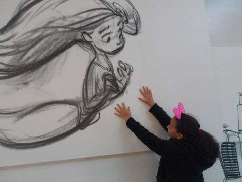 Ana Clara com a Pequena Sereia