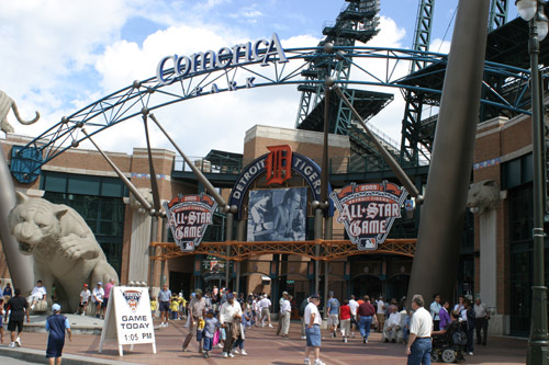 Comerica Park, o estádio de baseball dos Detroit Tigers