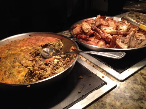Comida africana no buffet do Boma, no Animal Kingdom Lodge