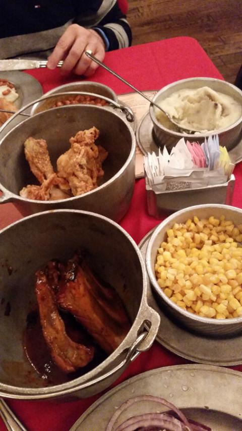 A comida: churrasco (barbecue) a vontade