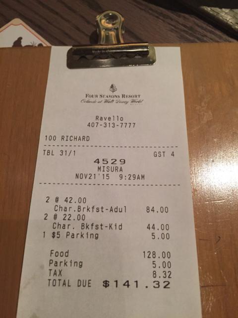 A conta do café da manhã no Ravello, custa o mesmo que um jantar com personagens em outros restaurantes